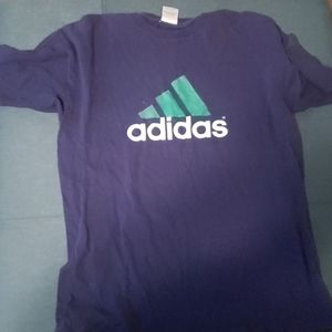 Adidas blue aNd green tee